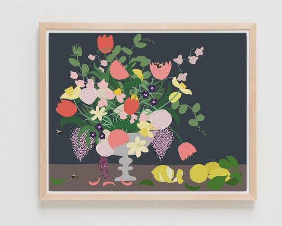 Fine Art Print.  Still Life with Flowers, November 30, 2019