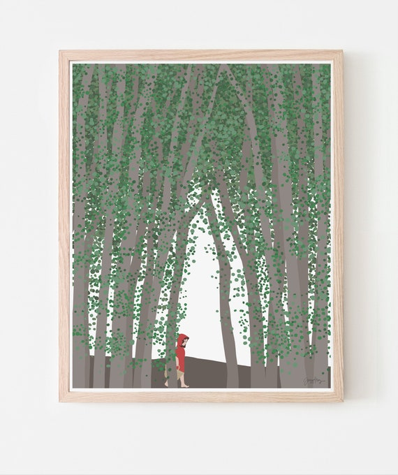 Little Red Riding Hood Fine Art Print. Framed or Unframed. Multiple Sizes Available. 200713.