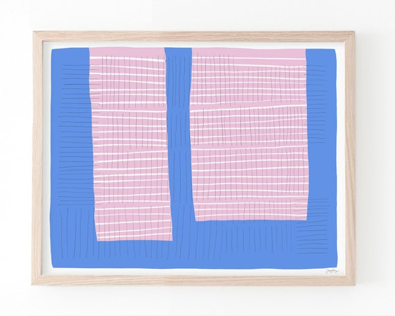 Abstract Colorblock Art Print. Available Framed or Unframed. 190316.