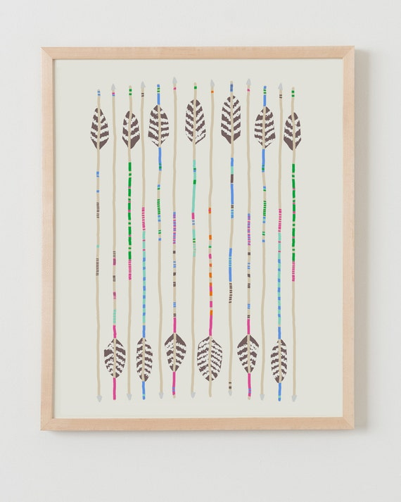 Fine Art Print. Arrows. Available Framed or Unframed.