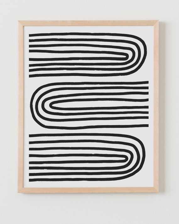 Fine Art Print. Abstract with Black Lines. Available Framed or Unframed.