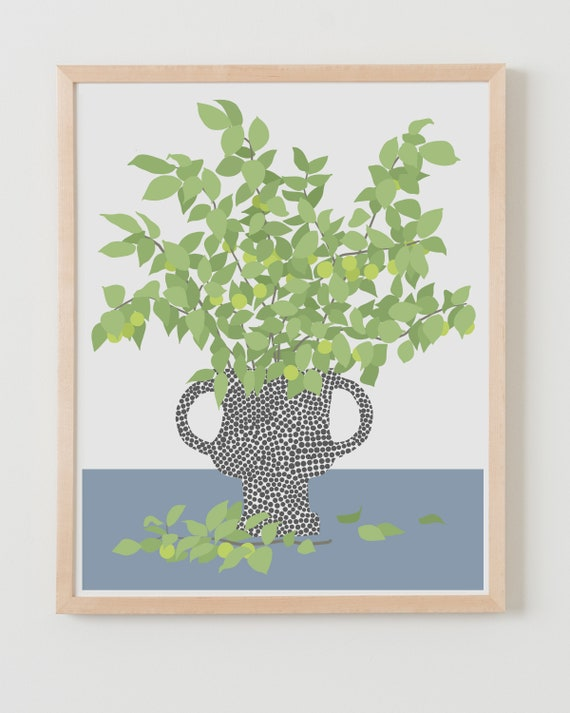 Fine Art Print.  Still Life with Fruit Tree Branches.  April 4, 2020.