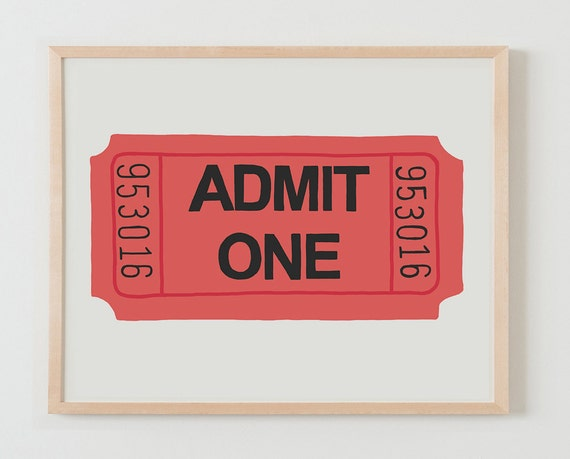 Fine Art Print.  Ticket.  September 29, 2015.