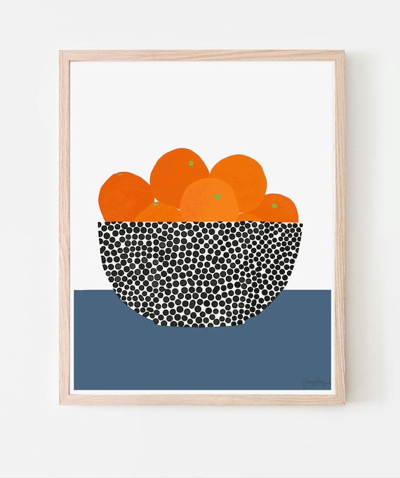 Still Life with Oranges Art Print. Framed or Unframed. 200616.
