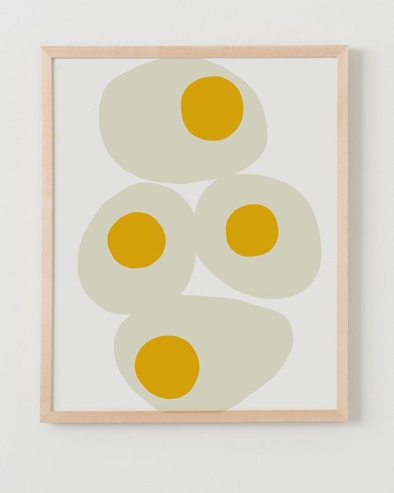 Fine Art Print.  Fried Eggs for Breakfast.  March 23, 2014.