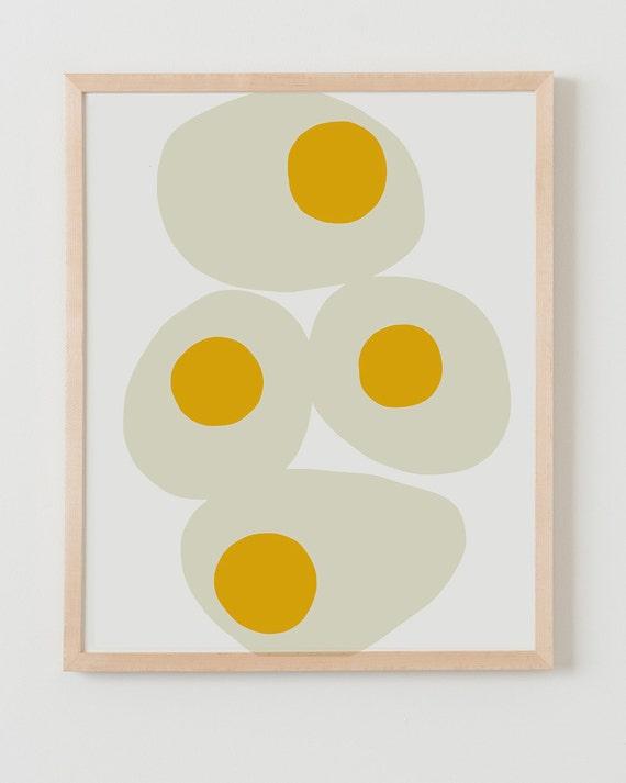 Fine Art Print.  Fried Eggs.  March 23, 2014.