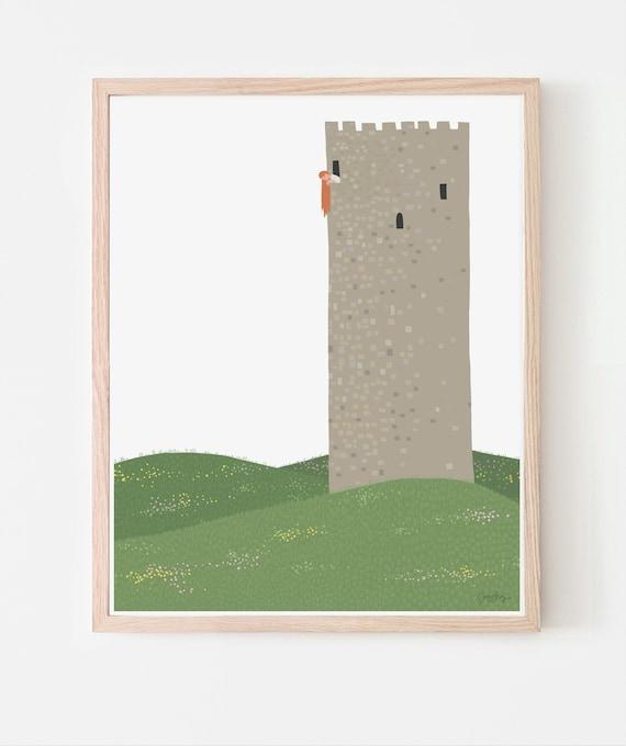 Rapunzel Art Print. Available Framed or Unframed. Multiple Sizes. 200713.