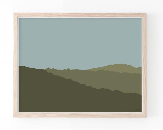 Landscape with Hills. Multiple Sizes. Framed or Unframed. 140119.