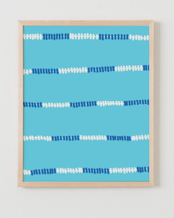 Framed Fine Art Print.  Swimming Pool Lane Markers.  September 4, 2011.