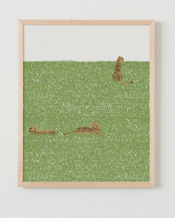 Framed Fine Art Print. Cheetahs in the Grass. March 16, 2015.
