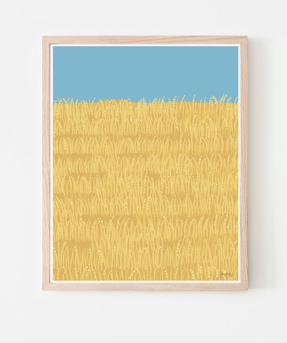 California Golden Hills Art Print. Available Framed or Unframed. 140730.