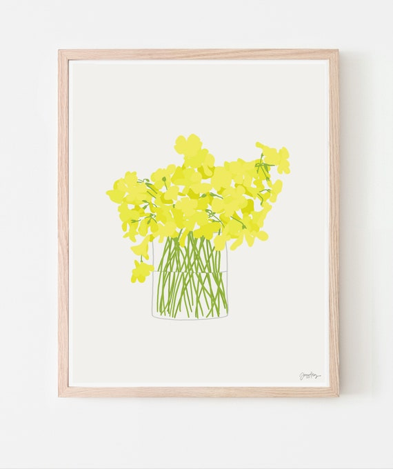 Wildflower Bouquet Art Print. Available Framed or Unframed. 130314.