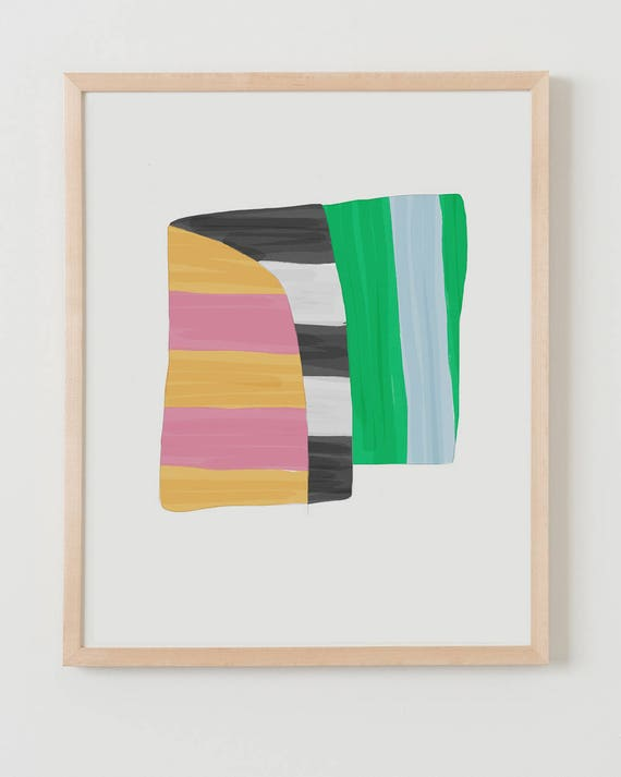 Fine Art Print.  Stripe Study Wide, October 3, 2017.