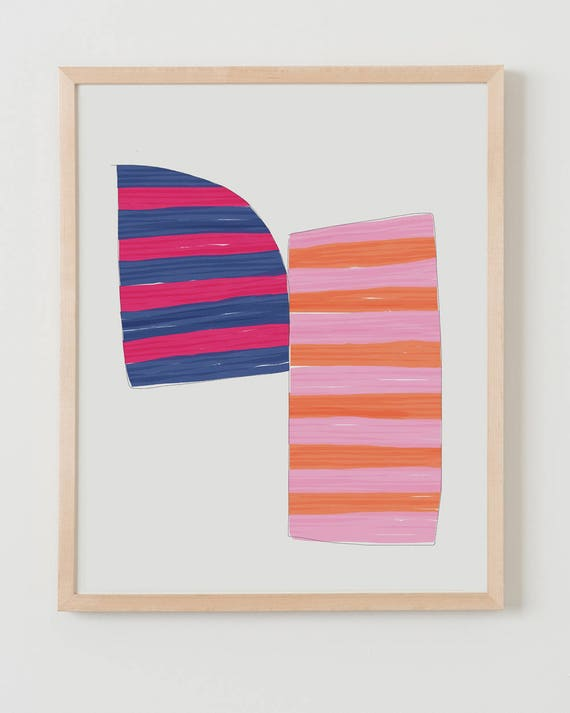 Fine Art Print.  Stripe Study Multicolored, November 4, 2017.