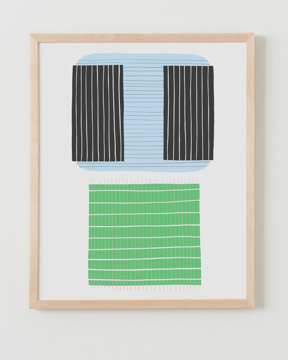 Fine Art Print. Abstract with Stripes. Available Framed or Unframed.