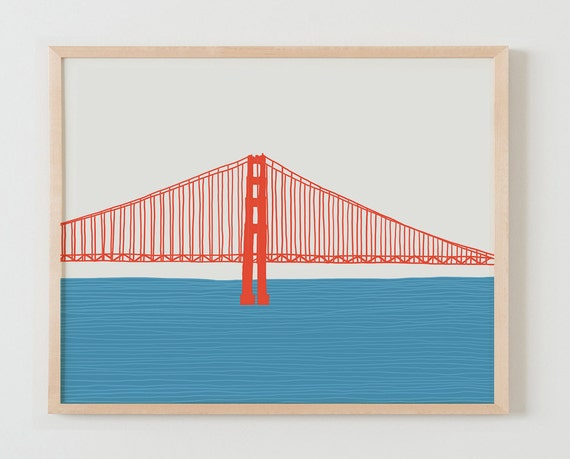 Fine Art Print. Golden Gate Bridge. Available Framed or Unframed.