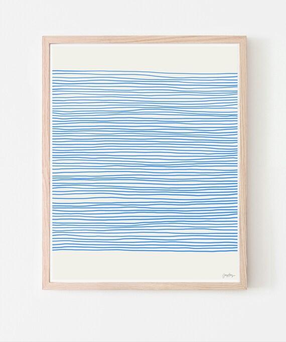 Blue Stripes Fine Art Print. Available Framed or Unframed. 120425.