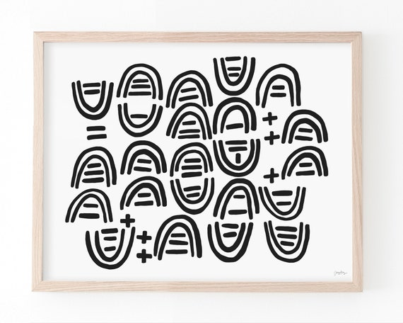 Abstract with Black Lines Art Print. Available Framed or Unframed. 210316.
