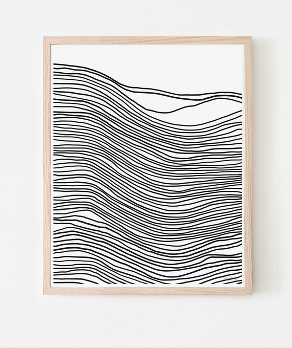 Abstract with Black Lines Art Print. Available Framed or Unframed. 200727.