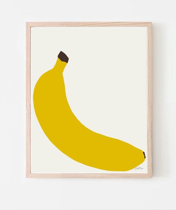 Banana Art Print. Framed or Unframed. Multiple Sizes Available. 140429.