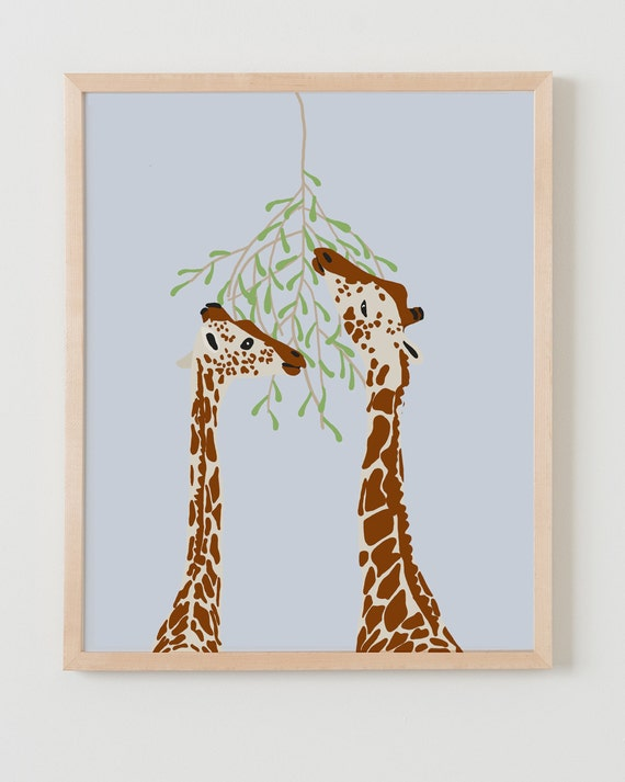 Fine Art Print. Giraffes Eating. January 16, 2013.