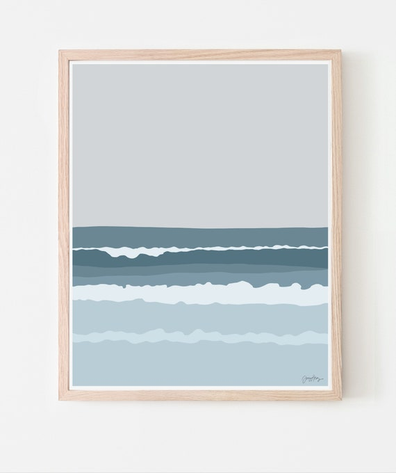 Ocean Waves Art Print. Available Framed or Unframed. 130725.