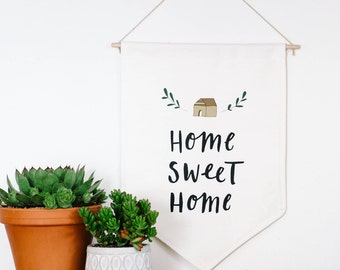 Home SWEET Home Wall Flag Fabric BANNER Wall Hanging
