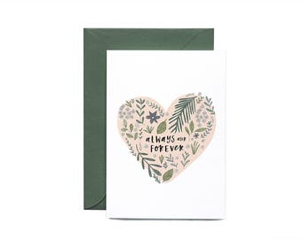 Always And Forever Illustrated Greeting Card
