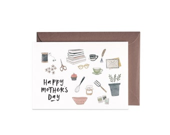 Mother's Day Greeting Card FLATLAY