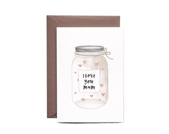 Mother's Day Card JAR FULL of LOVE