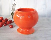 Vintage Fiesta Marmalade Jar, Original Red Jam Honey, Homer Laughlin Collectible Fiestaware, circa 1940