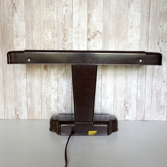 Sensational Vintage Metal Industrial Desk Lamp Retro Moe Light Art Deco Moderne Office Lamp Airplane Wing Movie Stage Prop Caraccident5 Cool Chair Designs And Ideas Caraccident5Info