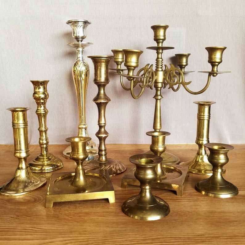 solid brass candlesticks