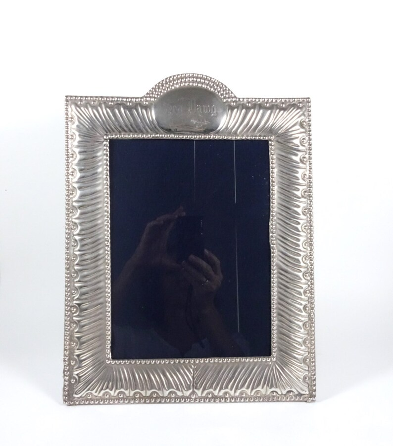 Antique 925 Sterling Silver Picture Frame Antiques Picture Frames