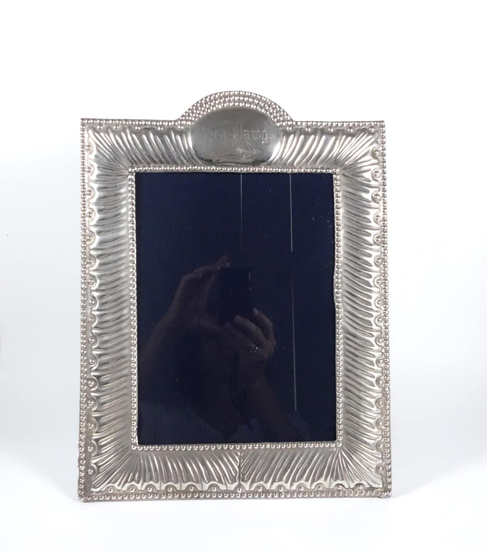 Vintage Sterling Silver Picture Frame Del Pilar Peru 925 Etsy