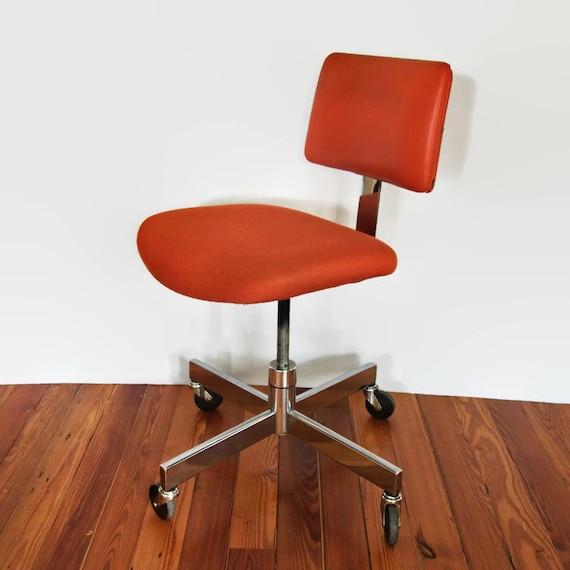 Excellent Steelcase Office Chair Mid Century Orange Desk Chair Vintage 1970S Retro Swivel Task Squirreltailoven Fun Painted Chair Ideas Images Squirreltailovenorg