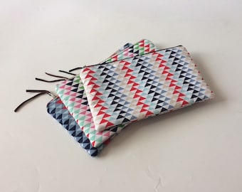 XL Travel Pouch With Little Triangles