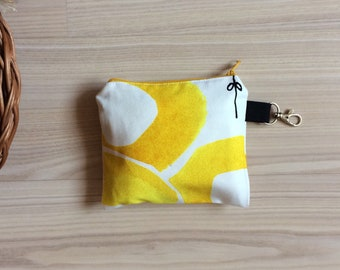 5 Bulk Shopping Bags With a Pouch With Yellow Circles / Set of 5 Different Produce Shopping Bags / This is a set of bags for zero waste shop