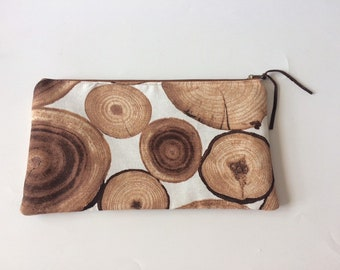 XL Travel Pouch With Photo Wood Print