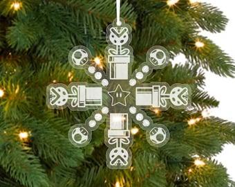 Super Mario Snowflake Ornament