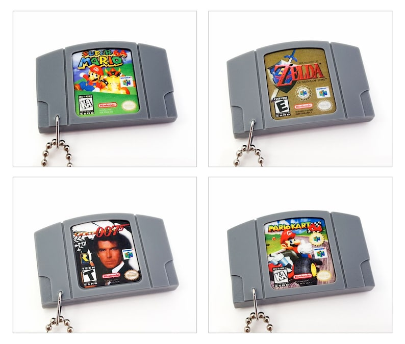 Various Nintendo 64 N64 Cartridge Keychain