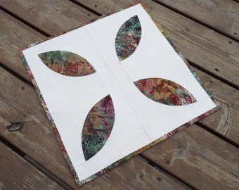 Table Runner, Table topper, quilted table runner, Dresser Scarf, candle mat, batik, pine cone,