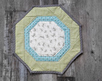 Table Runner, Table topper, quilted table runner, camping, glamping, mosquitos, campers, camping decor, camper decor