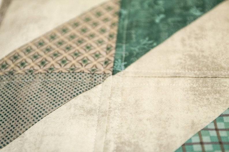 Stonehenge table runner green mint gray Mini Quilt square Table topper