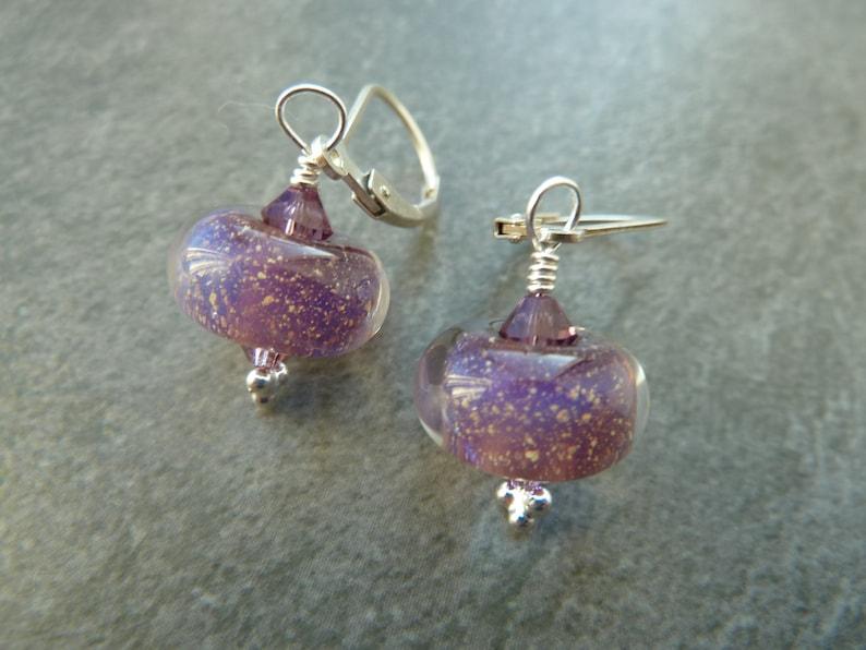 sterling silver uk handmade jewellery lampwork glass earrings