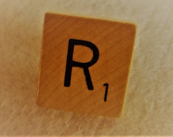 Scrabble Tile TIE  or COLLAR PIN