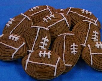 Football Sugar Cookies
