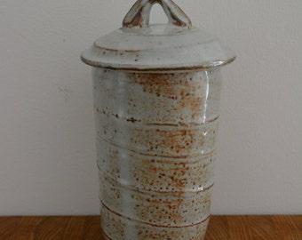 Ceramic Canister, Lidded Jar | Wheel Thrown, Stoneware