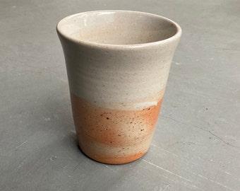 Ceramic Tumbler, Cup, Drinking Glass, Beaker | Wheel Thrown, Stoneware, Wood Fired