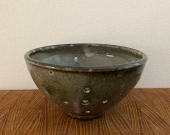 Ceramic Berry Bowl, Colander, Strainer | Wheel Thrown, Stoneware